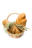 Basket with bread Stock Photos