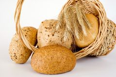 Basket with the bread Stock Photo