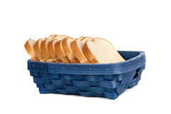 Basket of bread Stock Image