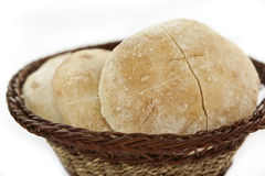 Basket of bread Stock Images