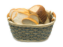Basket with bread Stock Image