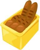 Basket of bread. Illustration of basket of bread on white background vector illustration