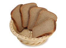 Basket with bread Royalty Free Stock Image
