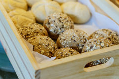 Basket bread Stock Images