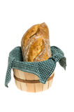 Basket of bread with cloth Royalty Free Stock Image