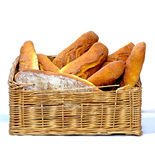 Basket of Bread Royalty Free Stock Photos