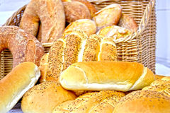Basket of Bread Royalty Free Stock Photography