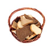 Basket with bread. Royalty Free Stock Image