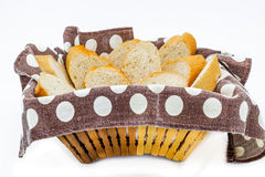 A basket with bread recently baked Royalty Free Stock Images