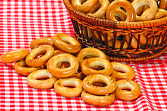 Basket with bread ring Stock Photography