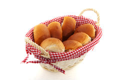 Basket with bread rolls Royalty Free Stock Images