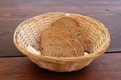 Basket with bread Royalty Free Stock Photography