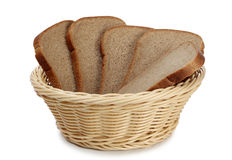 Basket and bread Royalty Free Stock Image