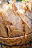 Basket of Bread Stock Photos