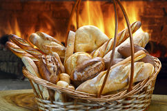 Basket of breads Royalty Free Stock Photography