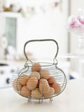 Basket Of Brown Eggs Royalty Free Stock Photo