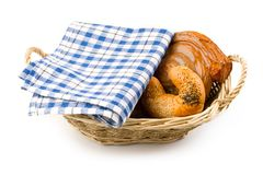Basket of buns Royalty Free Stock Images