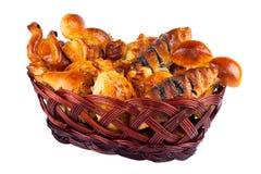 Basket with buns-2 Stock Photos
