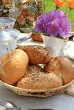 Basket of buns. royalty free stock image