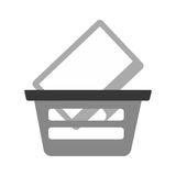 Basket buying online computer screen wireless gray color. Vector illustration eps 10 Stock Photos
