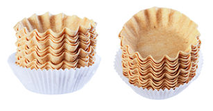 Basket for cakes, empty, isolate on a white background, differen Royalty Free Stock Images