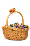 Basket of candies Stock Photos