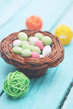 Basket with candy Royalty Free Stock Image