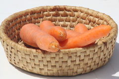 Basket of carrots Royalty Free Stock Photo
