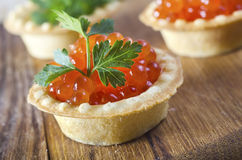 Basket with caviar Royalty Free Stock Image