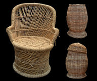 Basket chair Stock Photos