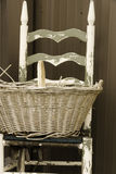 Basket and Chair Royalty Free Stock Photo