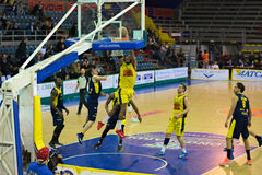 Basket,challeng,match,chest,. Scafati last league game of the team Givova Scafati Basket against US Basketball Recanati . Victory of Scafati Basket for 86 to 81 Stock Image