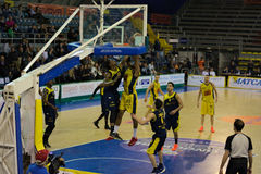 Basket,challeng,match,chest,. Scafati last league game of the team Givova Scafati Basket against US Basketball Recanati . Victory of Scafati Basket for 86 to 81 Stock Images