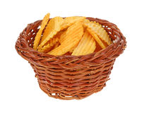 Basket Cheddar Flavored Chips Stock Photography