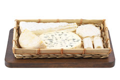 Basket of cheeses Stock Image