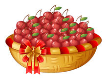 A basket of cherries royalty free illustration