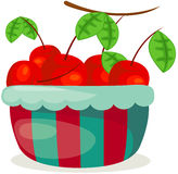 A basket of cherry Royalty Free Stock Images