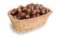 Basket of chestnuts Royalty Free Stock Images