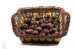 Basket of chestnuts Royalty Free Stock Image