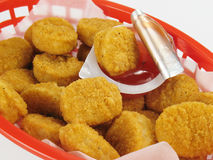 Basket of Chicken Nuggets Royalty Free Stock Images