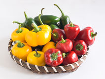 Basket of Chillies Stock Photo