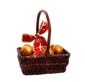 Basket of Christmas Decorations Stock Photography