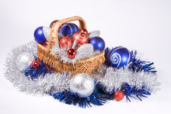 Basket with Christmas toys Stock Image