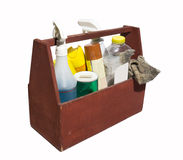 Basket of Cleaning Goods Stock Photo