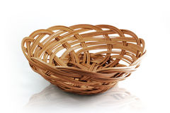 Basket with clipping path Royalty Free Stock Images