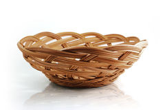 Basket with clipping path. Domestic been left blank to be filled baskets and natural path was used Royalty Free Stock Image