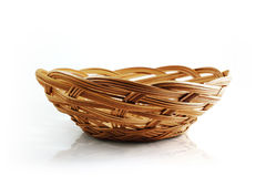 Basket with clipping path. Domestic been left blank to be filled baskets and natural path was used Royalty Free Stock Photo