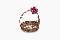 Basket clipping paths. The basket for new years with clipping paths Stock Photos