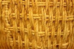 Basket. Closeup of brown woven basket Stock Photo