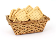 Basket of Coconut Flavored Cookies Stock Photo